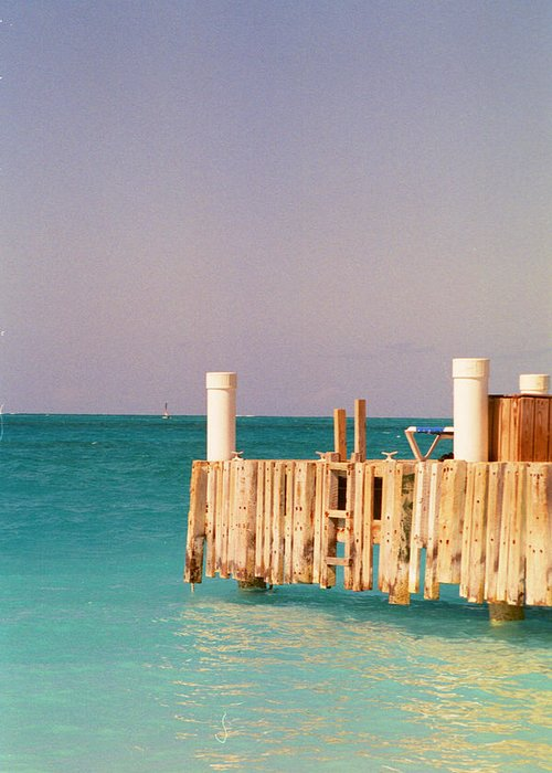 Ocean Greeting Card featuring the photograph Relaxing In Aqua by Carol Steele