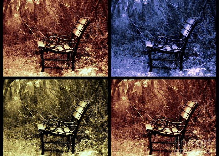 Bench Greeting Card featuring the photograph Relaxing Time by Susanne Van Hulst