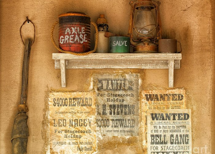 Southwest Greeting Card featuring the photograph Relics Of The Old West by Sandra Bronstein