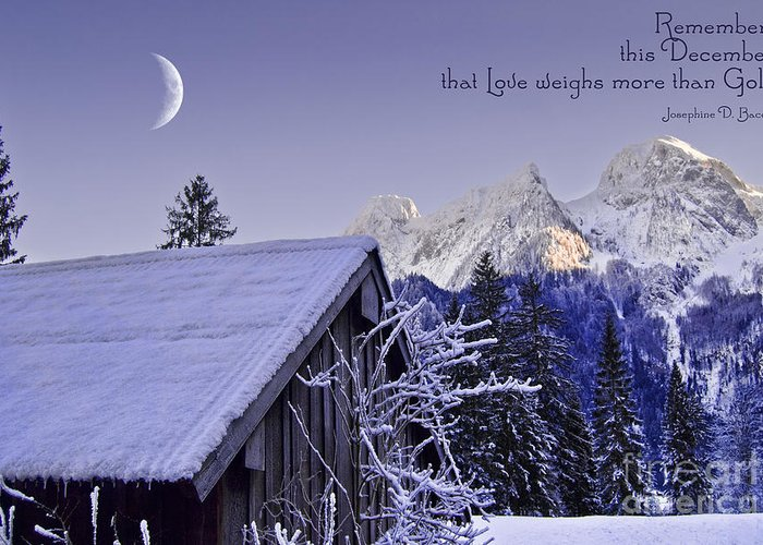 Winter Greeting Card featuring the photograph Remember This December by Sabine Jacobs