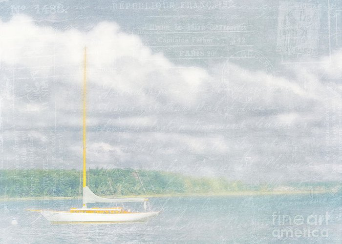 Sailboat Greeting Card featuring the photograph Remembering Ethereal Days by Cheryl Butler