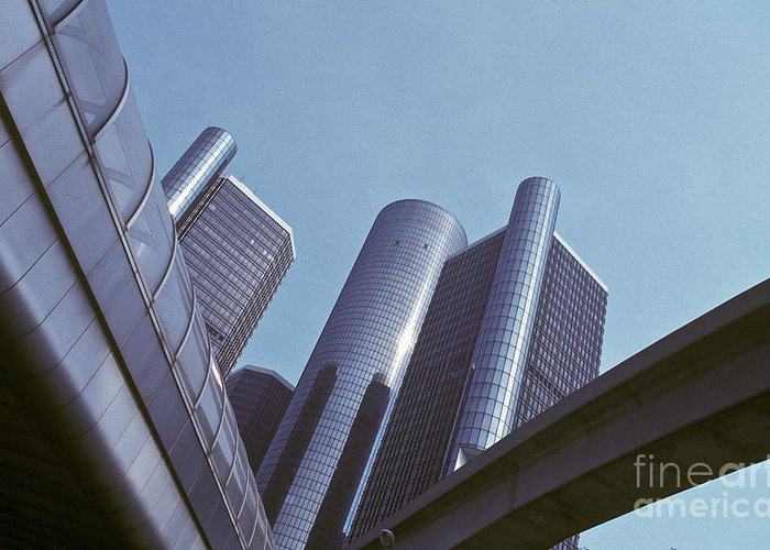 Architecture Greeting Card featuring the photograph Renaissance Center In Detroit by Will & Deni McIntyre