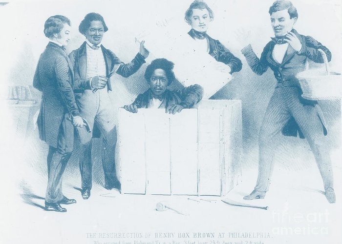 Henry Brown Greeting Card featuring the photograph Resurrection Of Henry Box Brown by Photo Researchers
