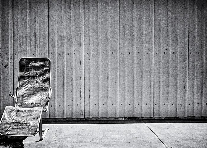 Lounge Chair Greeting Card featuring the photograph Retired by Ron Regalado
