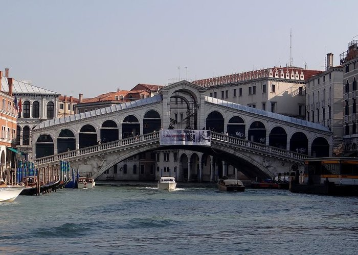 Rialto Bridge Greeting Card featuring the photograph Rialto Bridge by Keith Stokes