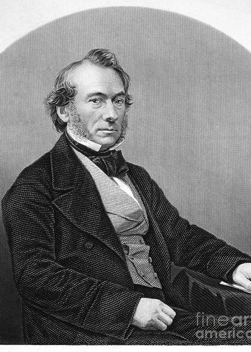 19th Century Greeting Card featuring the photograph Richard Cobden (1804-1865). /nenglish Politician And Economist. Steel Engraving, English, 19th Century by Granger