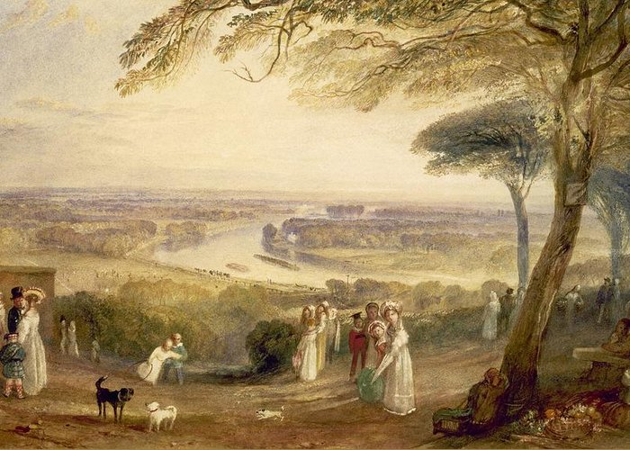 Richmond Terrace Greeting Card featuring the painting Richmond Terrace by Joseph Mallord William Turner