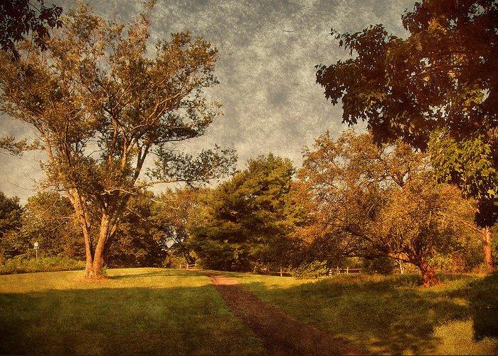Ridge Walk Greeting Card featuring the photograph Ridge Walk - Holmdel Park by Angie Tirado