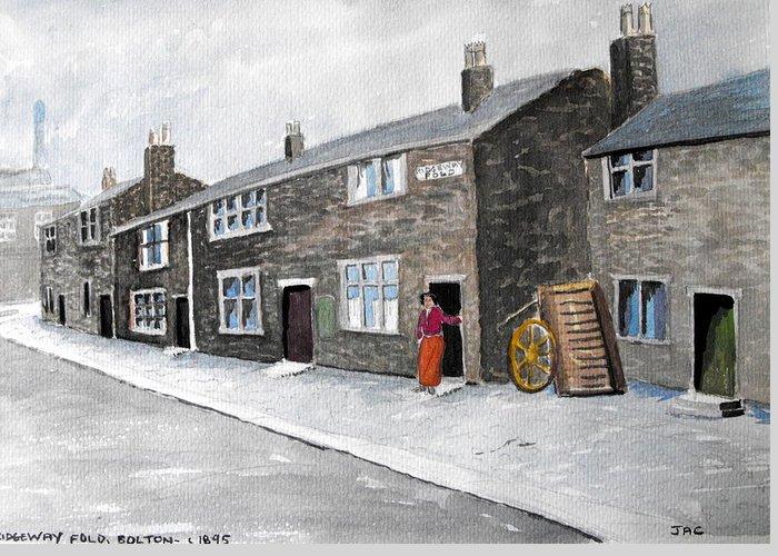 Bolton Greeting Card featuring the painting Ridgeway Fold by Jacqui Kilcoyne