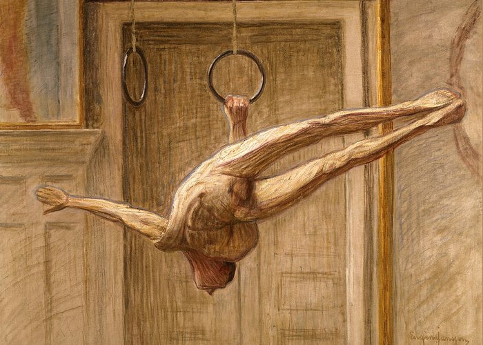 Dtr114672 Greeting Card featuring the photograph Ring Gymnast No 2 by Eugene Jansson