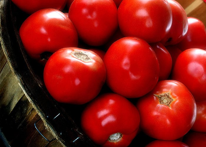 Tomatoes Greeting Card featuring the photograph Ripe N Ready by Michael Shreves