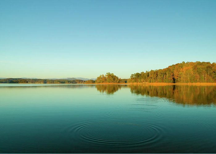 Keowee Lake Greeting Card featuring the photograph Ripples Of Change by Andria Patino