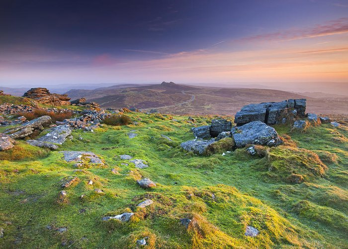 England Greeting Card featuring the photograph Rippon Tor by Sebastian Wasek