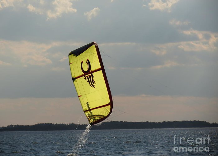 Kite Greeting Card featuring the photograph Rise From The Depths by Rrrose Pix