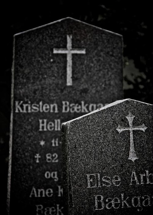 Headstones Greeting Card featuring the photograph Ritual by Odd Jeppesen