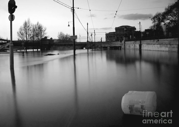 Nature Greeting Card featuring the photograph River In Street by Odon Czintos