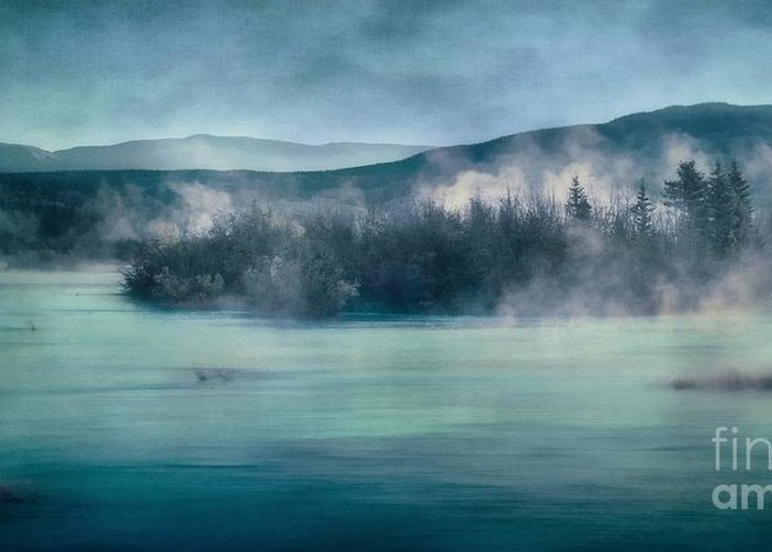 Yukon River Greeting Card featuring the photograph River Song by Priska Wettstein