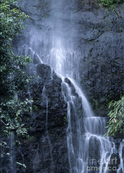 Waterfall Greeting Card featuring the photograph Road To Hana Waterfall by Sandra Bronstein