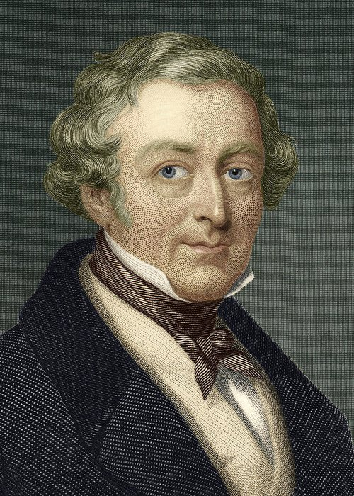 Robert Peel Greeting Card featuring the photograph Robert Peel, British Prime Minister by Sheila Terry
