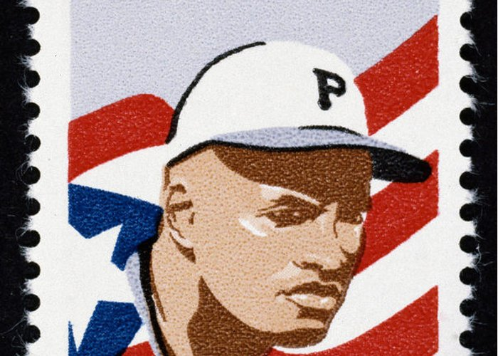 1984 Greeting Card featuring the photograph Roberto Clemente by Granger
