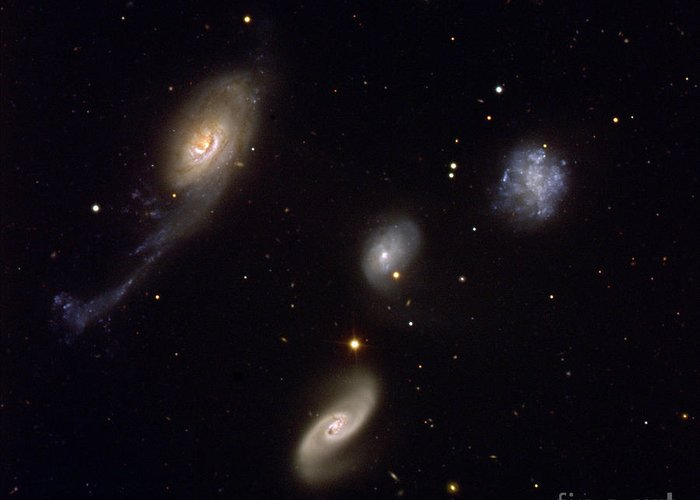 2005 Greeting Card featuring the photograph Roberts Quartet by European Southern Observatory