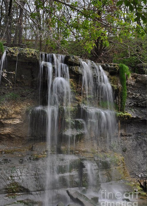 Nature Greeting Card featuring the photograph Rock Glen Falls by Ginger Harris