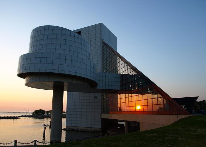 Rock Greeting Card featuring the photograph Rock Hall At Sunset by Allan Wrona