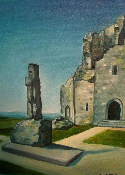 Ireland Greeting Card featuring the painting Rock Of Cashel by Nicole McKeever