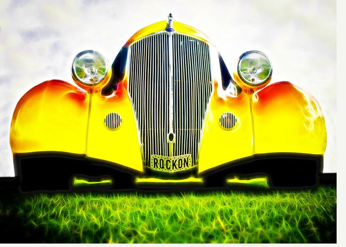 Ford Hot Rod Greeting Card featuring the photograph Rockon Rod by Phil 'motography' Clark