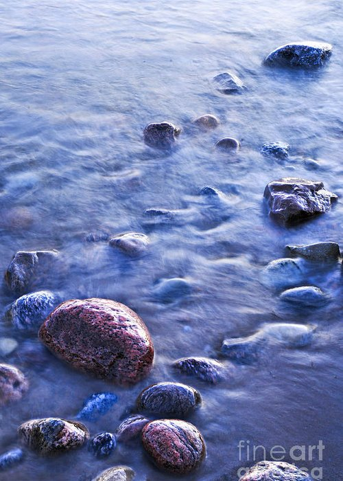 Rock Greeting Card featuring the photograph Rocks In Water by Elena Elisseeva