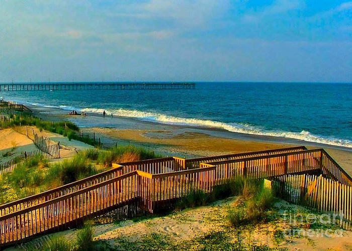 Greeting Card featuring the photograph Rodanthe On The Outer Banks by Julie Dant