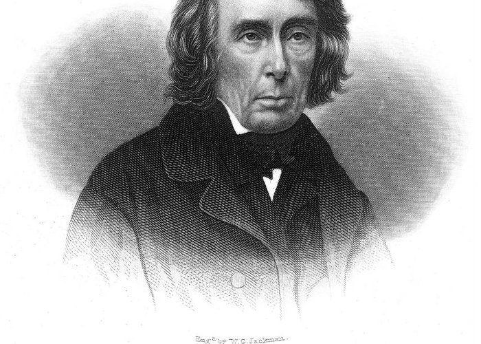 19th Century Greeting Card featuring the photograph Roger B. Taney (1777-1864) by Granger