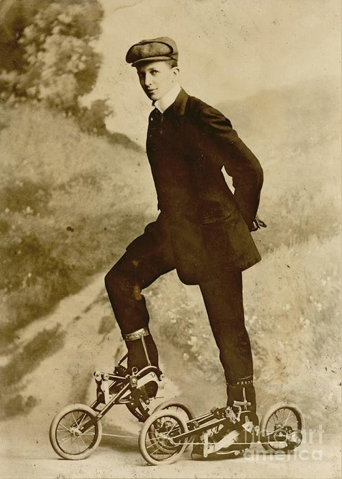 Roller Skating Greeting Card featuring the photograph Roller Skating by Padre Art