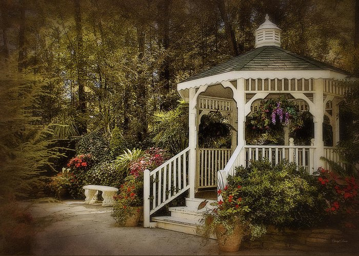 Garden Greeting Card featuring the photograph Romantic Garden by Cheryl Davis