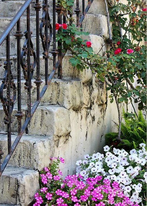 Steps Greeting Card featuring the photograph Romantic Steps by Sophie Vigneault