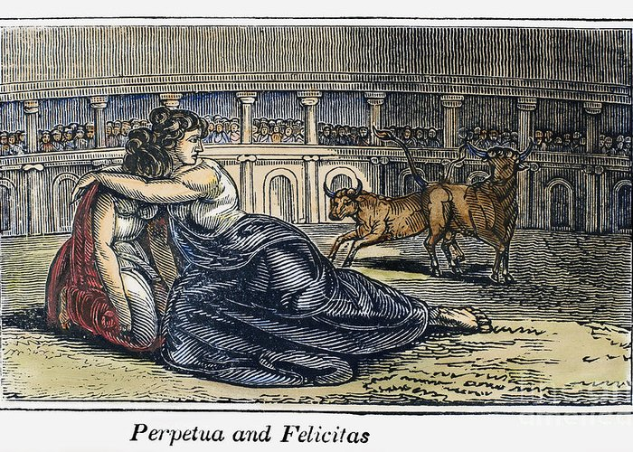 203 Greeting Card featuring the photograph Rome: Perpetua & Felicitas by Granger