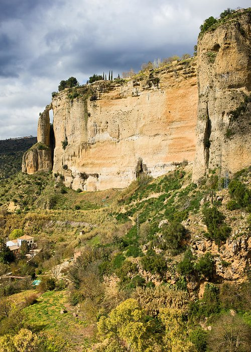 Andalucia Greeting Card featuring the photograph Ronda Rock In Andalusia by Artur Bogacki