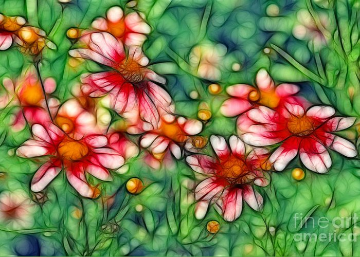Daisies Greeting Card featuring the digital art Rondo by Aimelle