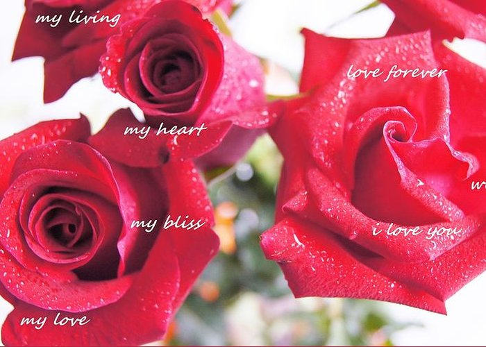 Greeting Card featuring the photograph Roses For You by Gornganogphatchara Kalapun