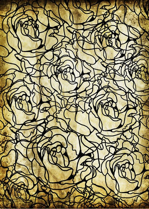 Abstract Greeting Card featuring the photograph Roses Pattern by Setsiri Silapasuwanchai