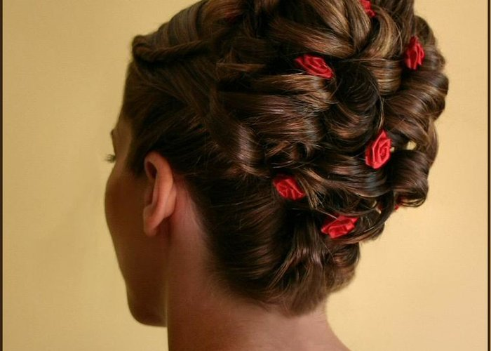Hairstyle Greeting Card featuring the photograph Rosettes by Kristin Elmquist