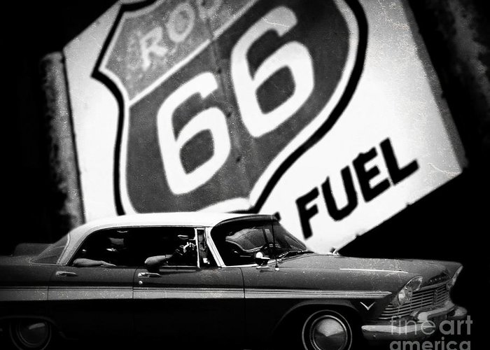 Route 66 Greeting Card featuring the photograph Route 66 by Emily Kelley