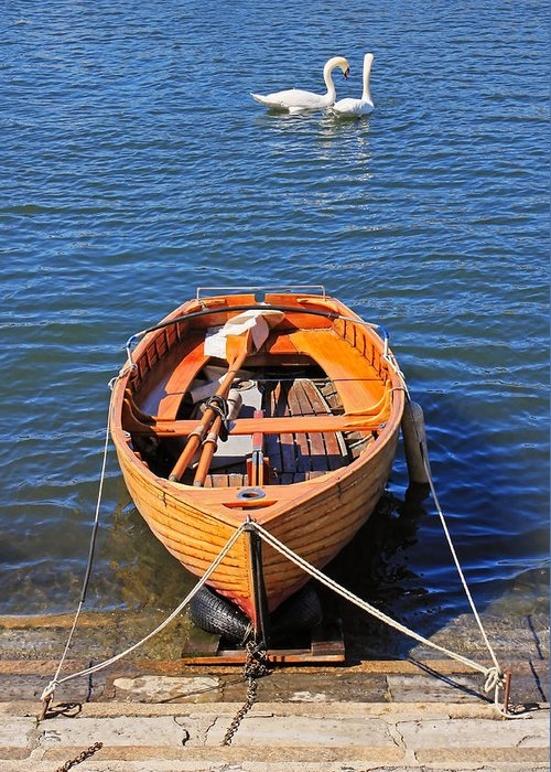 Travel Greeting Card featuring the photograph Rowboat by Joana Kruse
