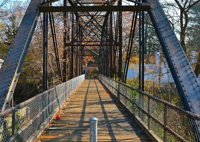 Bridge Greeting Card featuring the photograph Rube Nelson Bridge 1 by Bill Owen