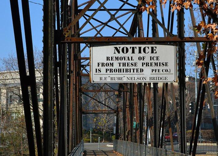 Bridge Greeting Card featuring the photograph Rube Nelson Bridge 2 by Bill Owen