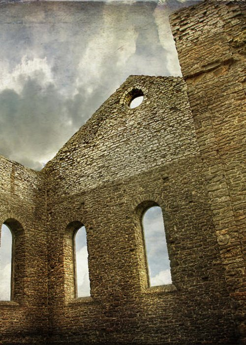 Architecture Greeting Card featuring the photograph Ruins Of A Church In Ontario by Sandra Cunningham