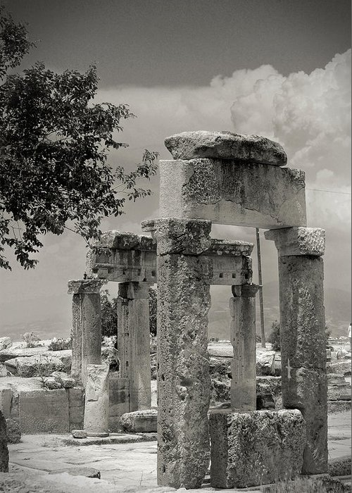 Anatolia Greeting Card featuring the photograph Ruins Of Hierapolis by Waldek Dabrowski