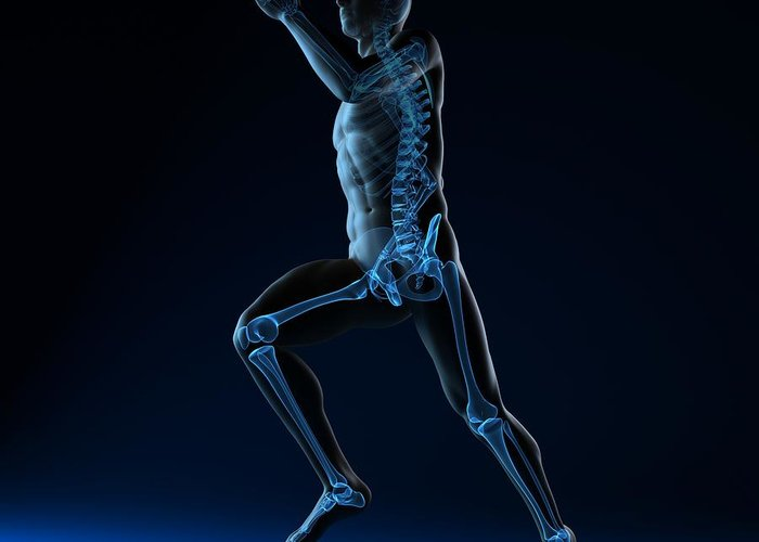 Artwork Greeting Card featuring the photograph Running Skeleton, Artwork by Sciepro