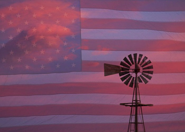 Windmills Greeting Card featuring the photograph Rural America by James BO Insogna