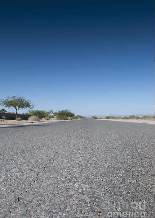 Arid Greeting Card featuring the photograph Rural Road by Dave & Les Jacobs